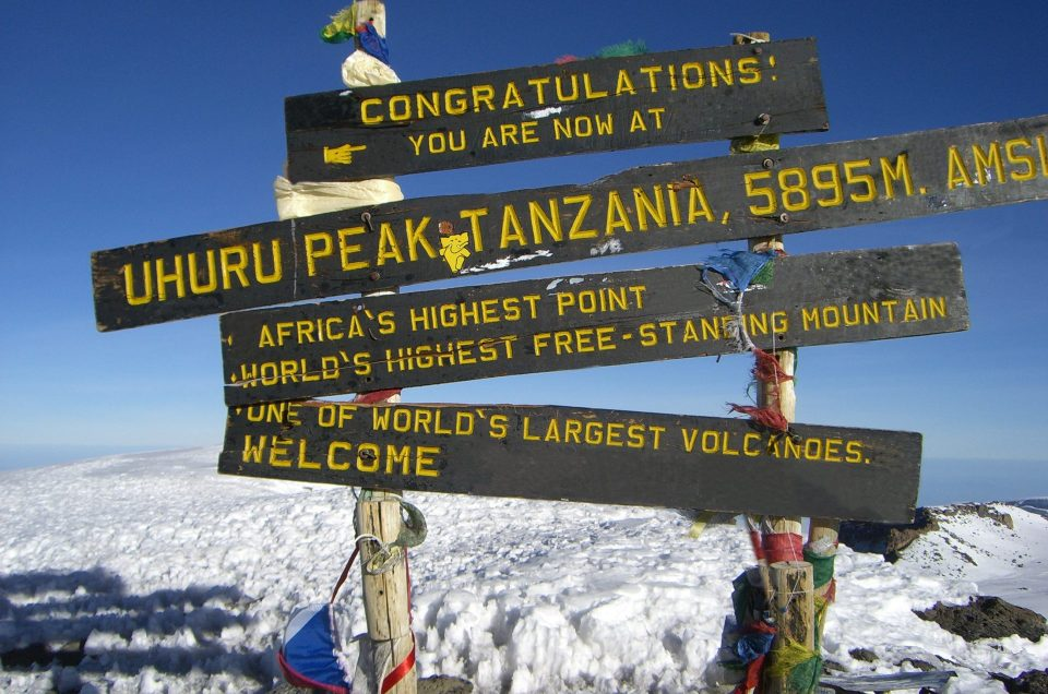 Mount Kilimanjaro's snow-dusted summit